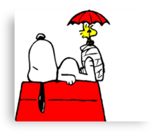 Woodstock with Snoopy Canvas Print