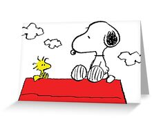 Snoopy and Woodstock Love Greeting Card