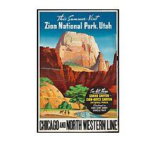 Zion National Park Vintage Art by AmazingMart