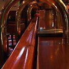 Railing at the Bar by Barbara  Brown