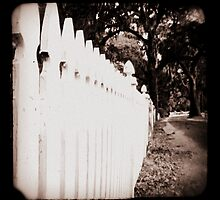 white picket fence by Shannon Byous Ruddy
