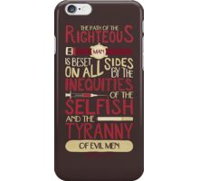 Ezekiel 25:17 iPhone Case/Skin