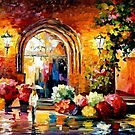 Gallery In The Old City — Buy Now Link - www.etsy.com/listing/222583149 by Leonid  Afremov