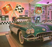 Let's Go To The Corvette Diner ~ San Diego, California by Marie Sharp