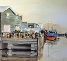 Fishing Boats in Peggy's Cove by Steven James