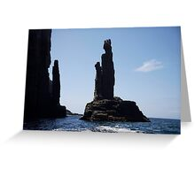 rock sculpture Greeting Card