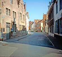 Street in Bruges 2002 by Priscilla Turner