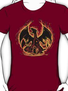Charizard fire evolutions cool design T-Shirt