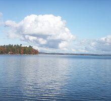 Autumn on Sebago Lake by betsy8897