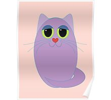 CAT LAVENDER ONE Poster