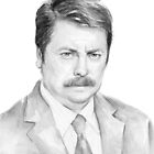 The Swanson Watercolor (BW) by OlechkaDesign