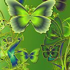 Emerald Butterflies by Dominic Melfi