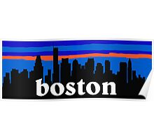 Boston, skyline silhouette Poster