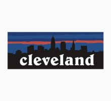 Cleveland, skyline silhouette. Kids Clothes