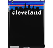 Cleveland, skyline silhouette. iPad Case/Skin