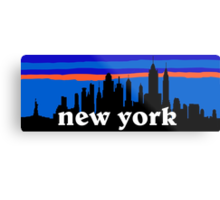 New york, skyline silhouette Metal Print