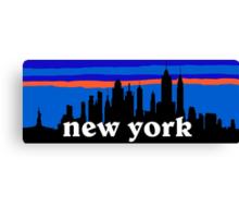 New york, skyline silhouette Canvas Print