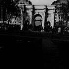 Marble arch - black and white by Perggals© - Stacey Turner