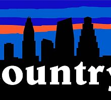 Country music. Austin skyline silhouette by mustbtheweather