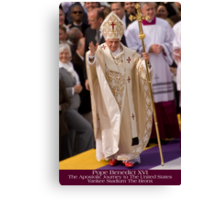 Pope Benedict XVI Canvas Print