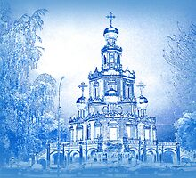Church of the Intercession at Fili, Moscow, Russia by vadim19