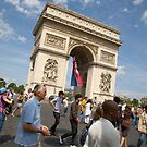 Arc De Triomphe on Bastille day by Andrew Duke