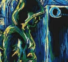 Arrow/ The Starry Night - Vincent Van Gogh Sticker