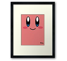game faces: kirby Framed Print
