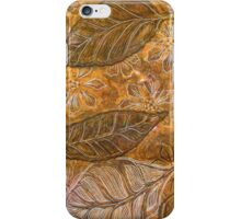 Leaves 14 Mixed Media - Ink on Monoprint iPhone Case/Skin