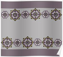 Lilac pattern with mandalas Poster