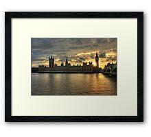 Sunset in London England Framed Print