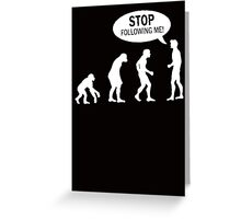 Banksy Funny Human Evolution Indie Stencil Greeting Card