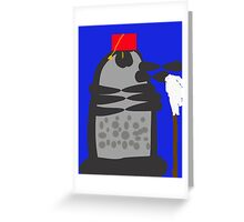 dalek fez and mop Greeting Card