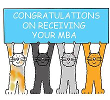 Congratulations on receiving your MBA, cartoon cats. by KateTaylor