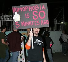 Homophobia Is Sooooo 5 Minutes Ago by abfabphoto