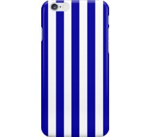 Navy Blue Striped French Bedspread iPhone Case/Skin