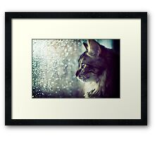 Staring Into the Open World Framed Print