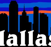 Dallas, skyline silhouette Sticker