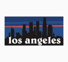 Los Angeles, skyline silhouette Kids Clothes