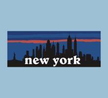 New york, skyline silhouette Kids Clothes