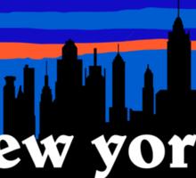 New york, skyline silhouette Sticker