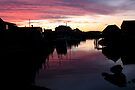 Peggy's Cove Silhouette by Darlene Ruhs