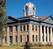 Jeff Davis Co. Courthouse, Ft. Davis, Tx. 1910 by John Thomason
