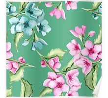 Floral delicate pattern Poster