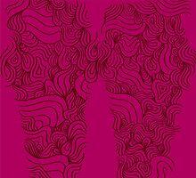ACID PEACOCK Fine Wine: Burgundy/Red-Violet Line Design Legging by JMTolman