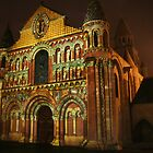 Poitiers Cathedral by Night by Pamela Jayne Smith