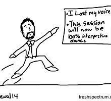 Interpretive Dance Presentation by Chris Lysy
