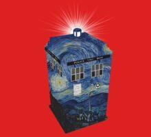 TARDIS Illustrated- Starry Night Kids Clothes