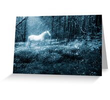 Under a moonlit sky Greeting Card