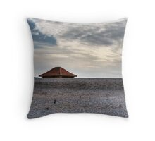 Blakeney Beach Hut Throw Pillow